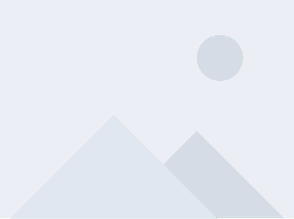 Stock placeholder image with grayscale geometrical mountain landscape
